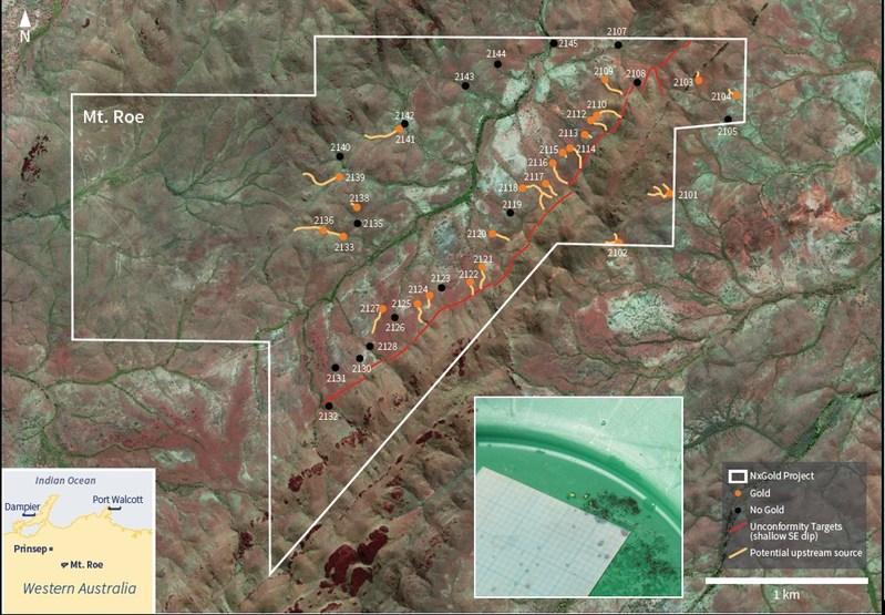 Figure 1: Stream Sediment Sample Locations (CNW Group/NxGold Ltd.)