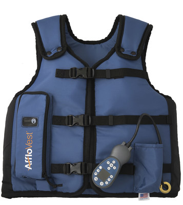AffloVest Fully Mobile HFCWO Airway Clearance Therapy.