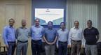 (L- R)Sridhar K (CBO, TalentSprint), Sunil Aggarwal (Faculty, TalentSprint), Santanu Paul (CEO & MD, TalentSprint), P.J. Narayanan (Director, IIIT - H), Sujit P. Gujar (Asst. Prof. IIIT-H), Kannan Srinathan (Asst. Prof. IIIT-H), Ramesh Loganathan (Prof. Co-Innovations, IIIT -H) at the launch of Executive Education Program on Blockchain Technologies (PRNewsfoto/TalentSprint)