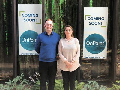 Branch Manager Elaine Pratt and Assistant Branch Manager Richard Masotto will welcome neighbors and members to OnPoint's new Fremont & Williams Branch opening August 30, 2018.
