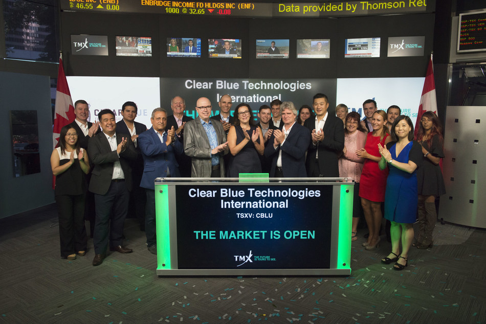 Clear Blue Technologies International Inc. Opens the Market (CNW Group/TMX Group Limited)