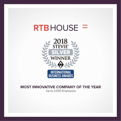 RTB House was named the winner of a Silver Stevie® Award in The Most Innovative Company of the Year - Up to 2,500 Employees category in The 15th Annual International Business Awards®.