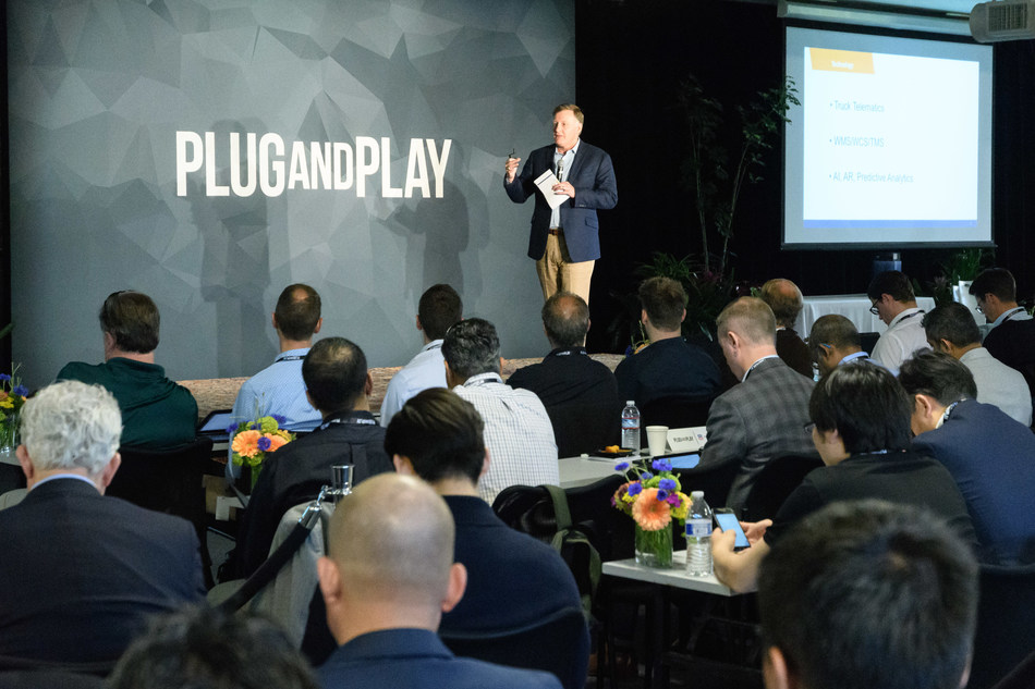 Plug and Play's Fall Summit in October 2018 will give startups the chance to pitch on stage to a room full of corporations and investors.