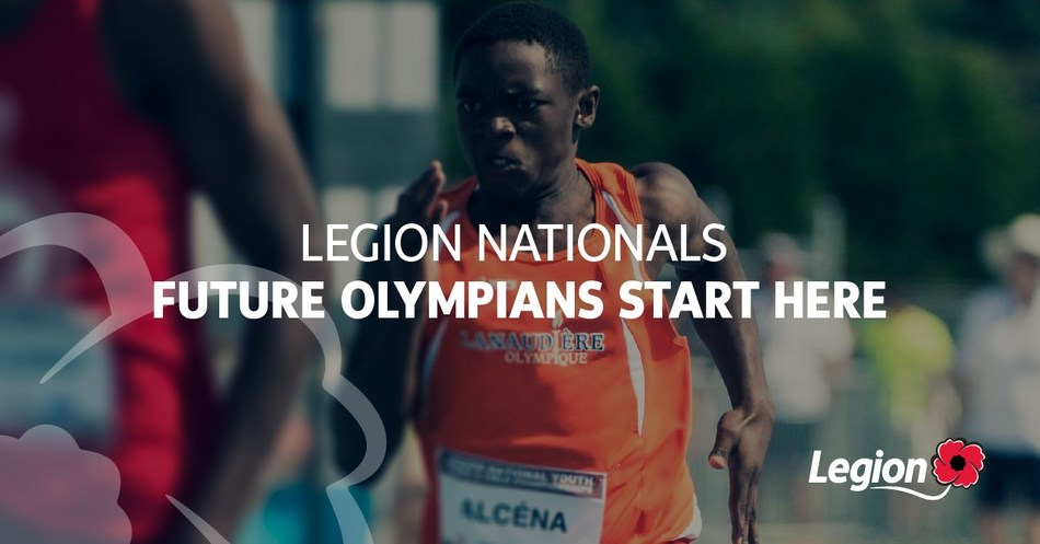 Legion Nationals - Future Olympians Start Here (CNW Group/The Royal Canadian Legion Dominion Command)