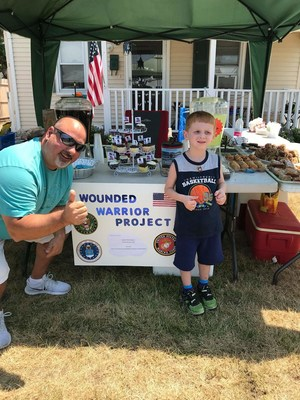 Recently, 4-year-old Jayden Magliaro whipped up some lemonade, iced tea, and baked goods to sell in support of the warriors Wounded Warrior Project® serves.