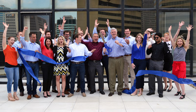 CapTech's Columbus, OH, office celebrates their recent expansion and new office with a ribbon cutting ceremony.