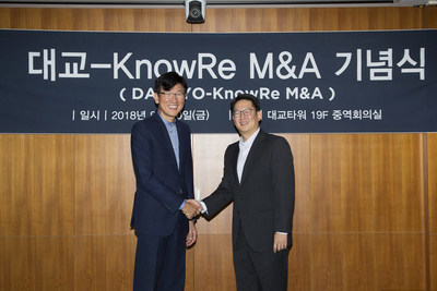 Daekyo CEO (Soo-Wan Park) and Knowre Co-CEO (David Joo)