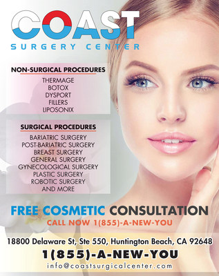 Coast Surgery Center of Huntington Beach is offering Images Luxury Nail Lounge clients 50% off all surgical procedures. Call 855-A-NEW-YOU / 855-263-9968 or visit www.coastsurgicalcenter.com