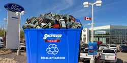 "Edmonton drivers are encouraged to visit local dealership Sherwood Ford to trade in their pre-2010 vehicles during ""Recycle Your Ride"" sales event"