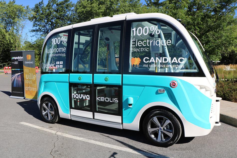 Autonomous Shuttle (CNW Group/Ville de Candiac)