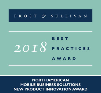 Frost & Sullivan recognizes Sprint Business with the 2018 North America New Product Innovation Award for its MultiLine solution. (PRNewsfoto/Frost & Sullivan)
