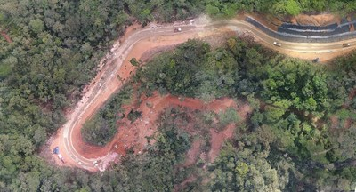 Figure 3. North Access road at kilometre 14 (CNW Group/Lundin Gold Inc.)