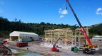 Figure 5. Construction of mine maintenance shop (CNW Group/Lundin Gold Inc.)