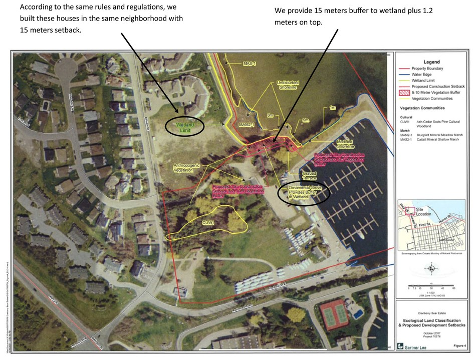 Image of Ecological Land Classification Proposed Development Setbacks Survey (CNW Group/Living Water Resorts)