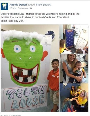 Events at Tooth Fairy Day (CNW Group/Aponia Dental)