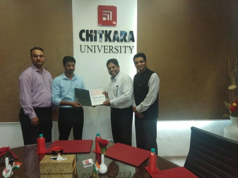 Chitkara University and Red Hat Academy Collaboration (PRNewsfoto/Chitkara University)