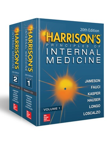 20th Edition of Harrison's Principles of Internal Medicine published by McGraw-Hill Education