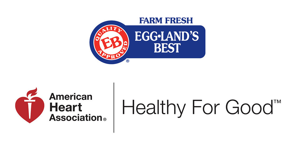 Eggland's Best logo and American Heart Association Healthy For Good Logo