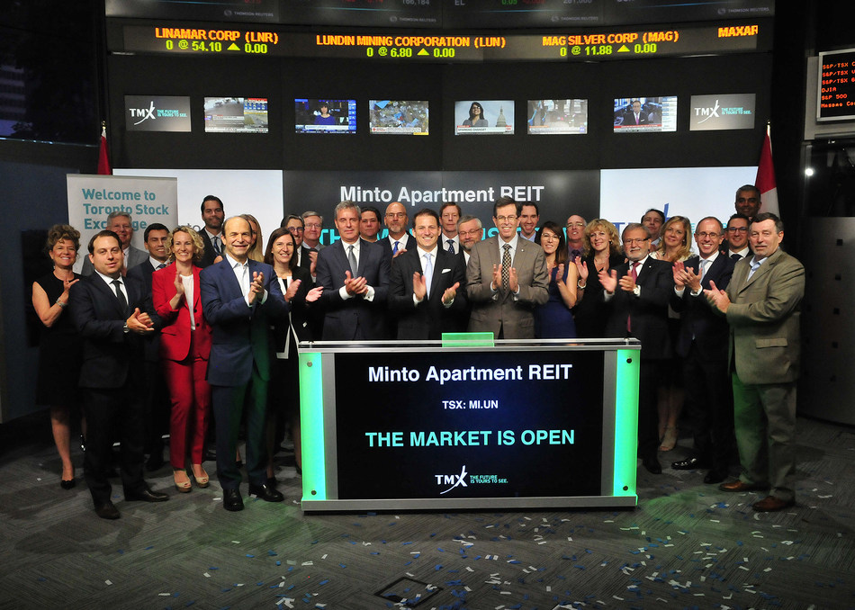 Minto Apartment Real Estate Investment Trust Opens the Market (CNW Group/TMX Group Limited)