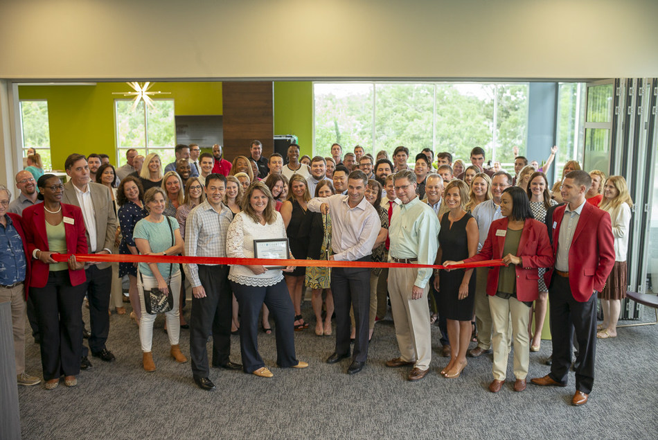 SageSure Insurance Managers celebrated the grand opening of its new Tallahassee office with a ribbon-cutting ceremony on August 9, 2018. The Greater Tallahassee Chamber of Commerce welcomed SageSure to their new space as CEO and Co-founder Terrence McLean officially cut the ribbon.