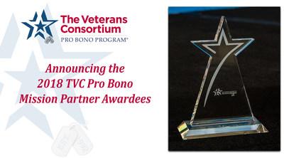 2018 TVC Pro Bono Mission Partner Awardees