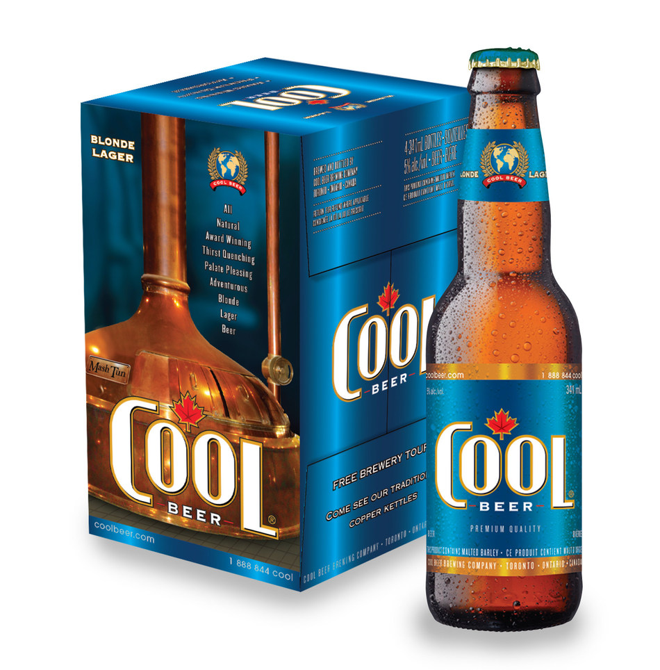 Award-winning Cool Lager beer (CNW Group/Cool Beer Brewing Co.)