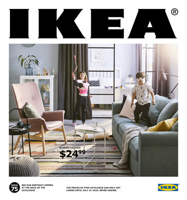 The 2019 IKEA Catalogue marks IKEA's 75th anniversary (CNW Group/IKEA Canada)