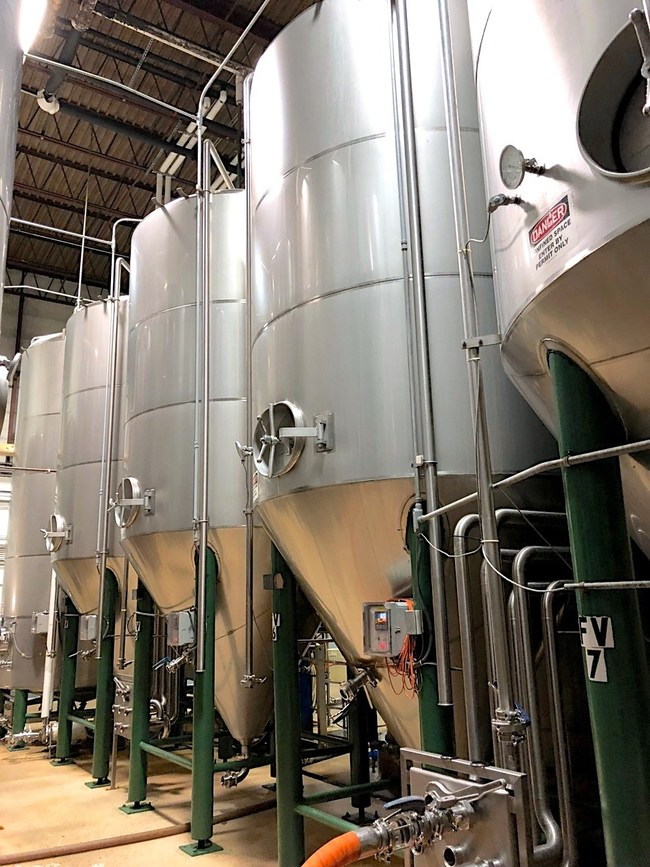 Auction also features multiple stainless steel-jacketed tanks ranging from 30-bbl to 500-bbl