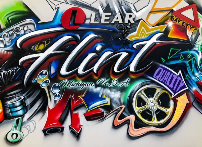 Lear Corporation Mural in New Flint, MI Facility