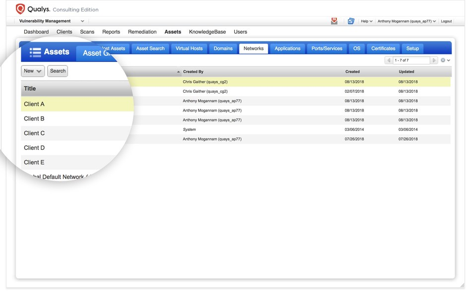 A newly introduced multi-tenant Networks tab allows data segmentation between clients.