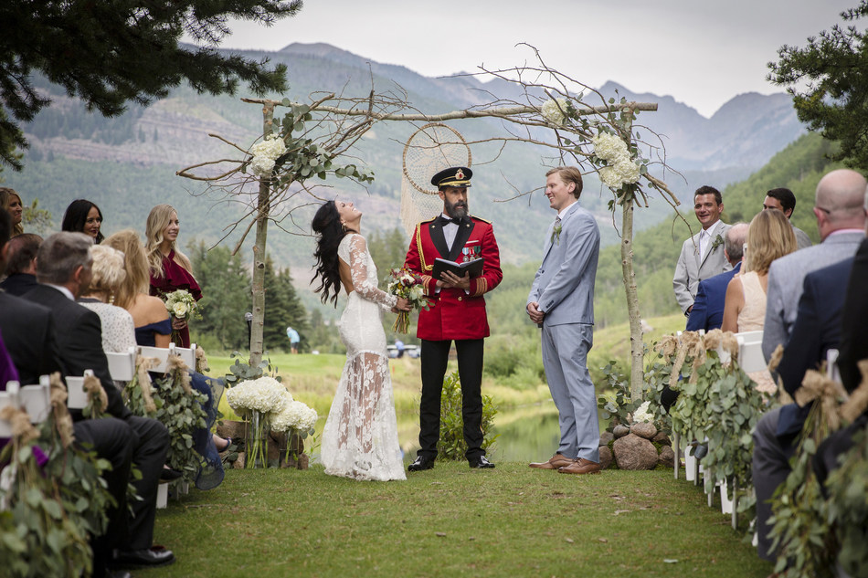 "Hotels.com superfan ""Chaplain Obvious,"" a.k.a. Captain Obvious,  just became the first-ever brand icon to become legally ordained, and officiated his first wedding this month in Vail, CO."