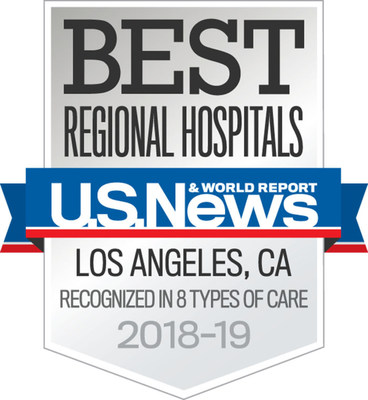 St. Joseph Hospital in Orange has been recognized as one of the top hospitals in the Los Angeles/Orange County metropolitan area by U.S. News & World Report