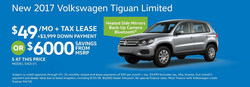 The 2017 Volkswagen Tiguan Limited is one of the most affordable lease offers at Dirito Brothers Volkswagen.