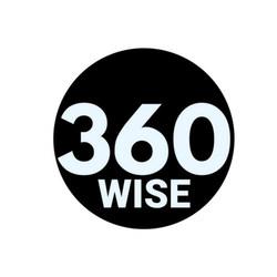 360WISE logo B/W