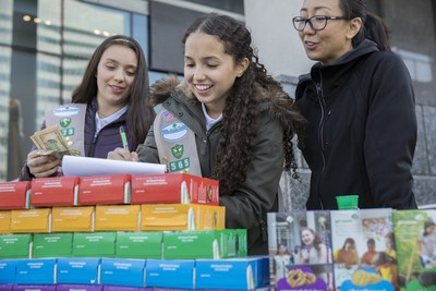 Girl Scouts announced that a new cookie, Caramel Chocolate Chip, will join the 2019 Girl Scout Cookie® season lineup with the returning Toffee-tastic® cookie, as a gluten-free offering with limited availability in select areas. The Girl Scout Cookie Program is proven to help the majority of girl participants develop five essential life and business skills, fostering the next generation of entrepreneurs and business leaders. For more information about Girl Scouts, visit www.girlscouts.org/join.