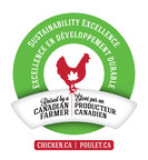 Raised by a Canadian Farmer: Sustainability Excellence (CNW Group/Chicken Farmers of Canada)