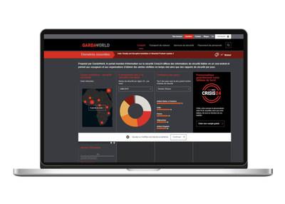 Le tableau de bord public GardaWorld, disponible au garda.com/crisis24, offre des informations de sécurité fiables, entièrement vérifiées, mises à jour en temps réel et accessibles 24/7. (Groupe CNW/Groupe de sécurité GardaWorld Inc.)