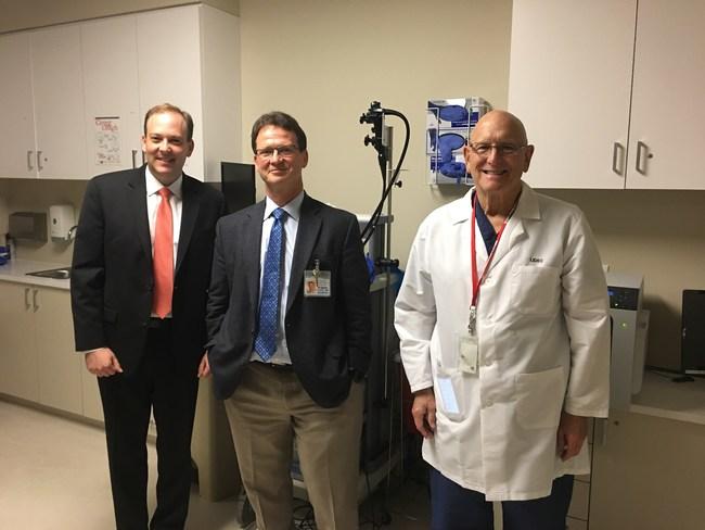 (L-R): Rep. Lee Zeldin, Eugene Coman, MD (ASLI Medical Director) and William Cohn, MD.