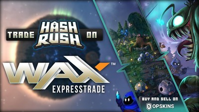 "Real-Time Strategy Game ""Hash Rush"" Partners with WAX and OPSkins Marketplace"