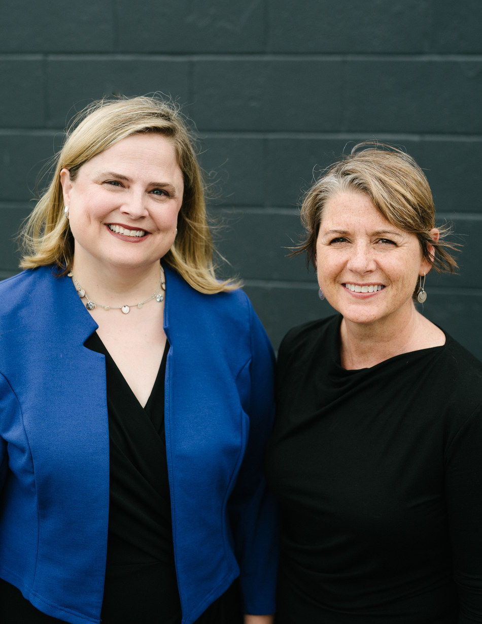 Kerri Hoffman (right), CEO of PRX, will become CEO of the combined organization. Alisa Miller (left), CEO of PRI, will become executive chair of the new organization's board of directors. Photo Credit: Christopher McIntosh