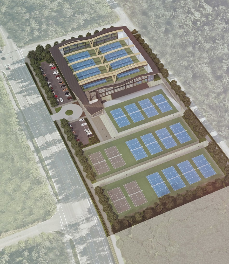 A rendering of the Western Canada Tennis Centre. (CNW Group/Tennis Canada)