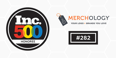 Merchology Ranks #282 on Inc. 500 with Sales Growth of 1730%
