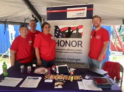 Sodexo volunteers provided more than 1,000 meals along with resume and job application assistance to homeless veterans during Stand Down event, June 29 through July 1 in San Diego, CA.