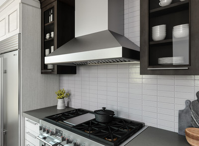 Zephyr, the company that has transformed the ventilation industry, adds to its Core, Designer, and Pro Collections with the new Titan wall professional range hood with PowerWave™ Blower Technology. Delivering more power, using less energy, and featuring a virtually silent motor, Titan is arguably Zephyr's most forward-thinking hood to date.