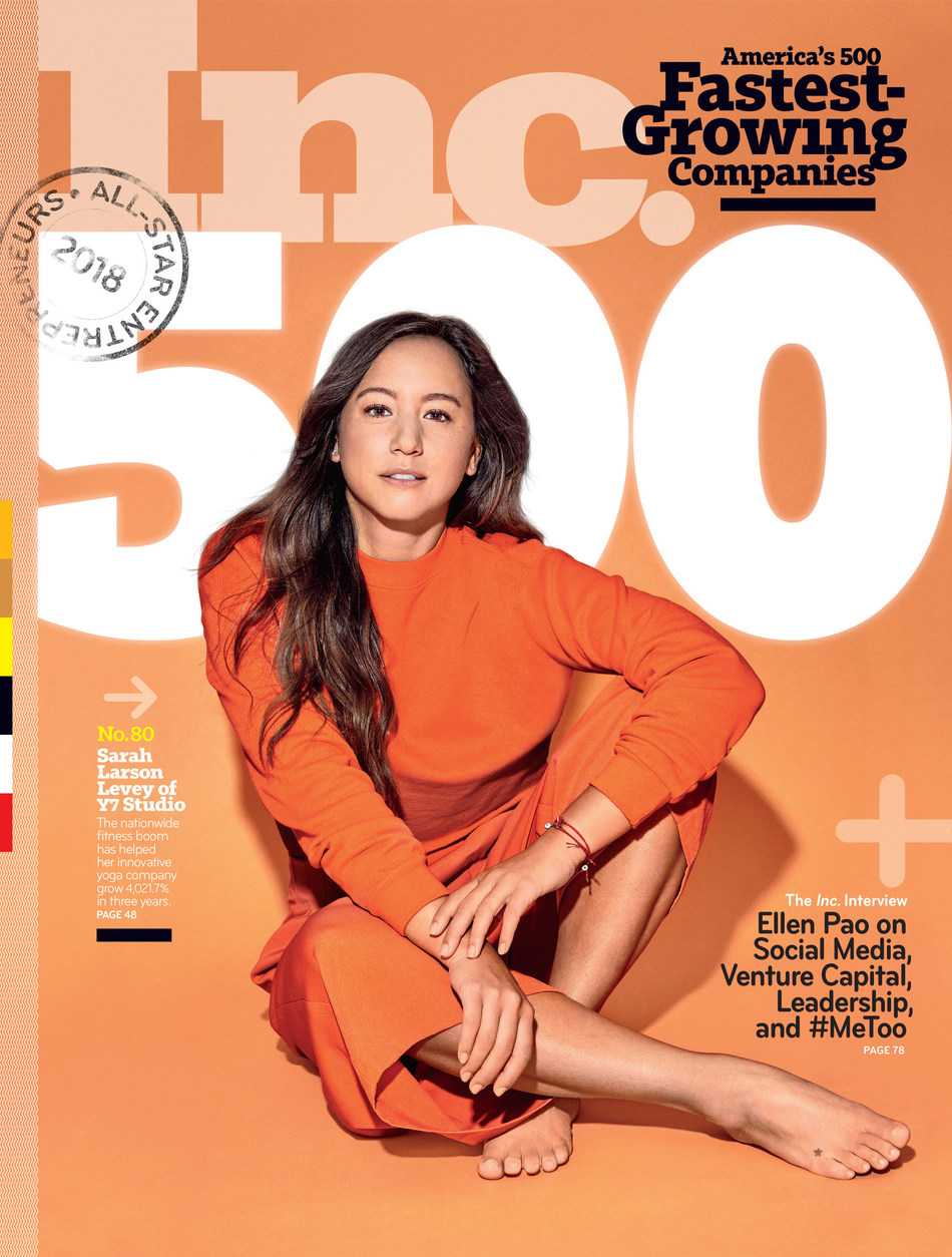 Y7 Studio Co-Founder and CEO Sarah Larson Levey featured on the September cover of Inc. Magazine's Annual Inc 5000 List.