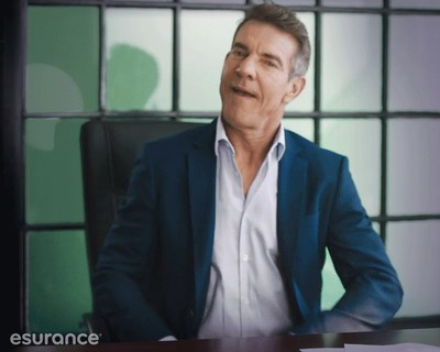 "Dennis Quaid makes his appearance as the new Esurance spokesperson for its ""Surprisingly Painless"" brand campaign. Esurance is making insurance easy to understand, simple to use, and affordable. In other words, making insurance surprisingly painless."