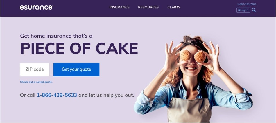 """Esurance launched a new brand campaign called """"Surprisingly Painless"""" and refreshed its website to represent how the company is making insurance easy to understand, simple to use, and affordable."""