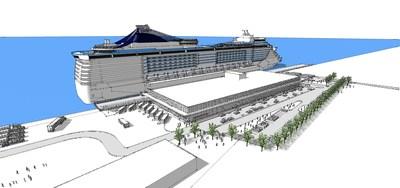 Croquis du projet de 2e terminal de croisières-Port de Québec. (Groupe CNW/Cabinet de la ministre du Tourisme)