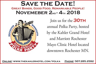 The Kahler Grand Hotel's 30th Annual Polka Party, coming this November.