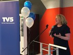 La ministre St-Pierre lors de l'événement soulignant le 30e anniversaire de TV5. (Groupe CNW/Cabinet de la ministre des Relations internationales et de la Francophonie)